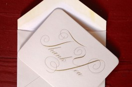 Hand Engraved Thank You note card.