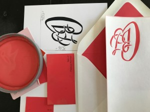 Color coordinate engraved stationery to decor.