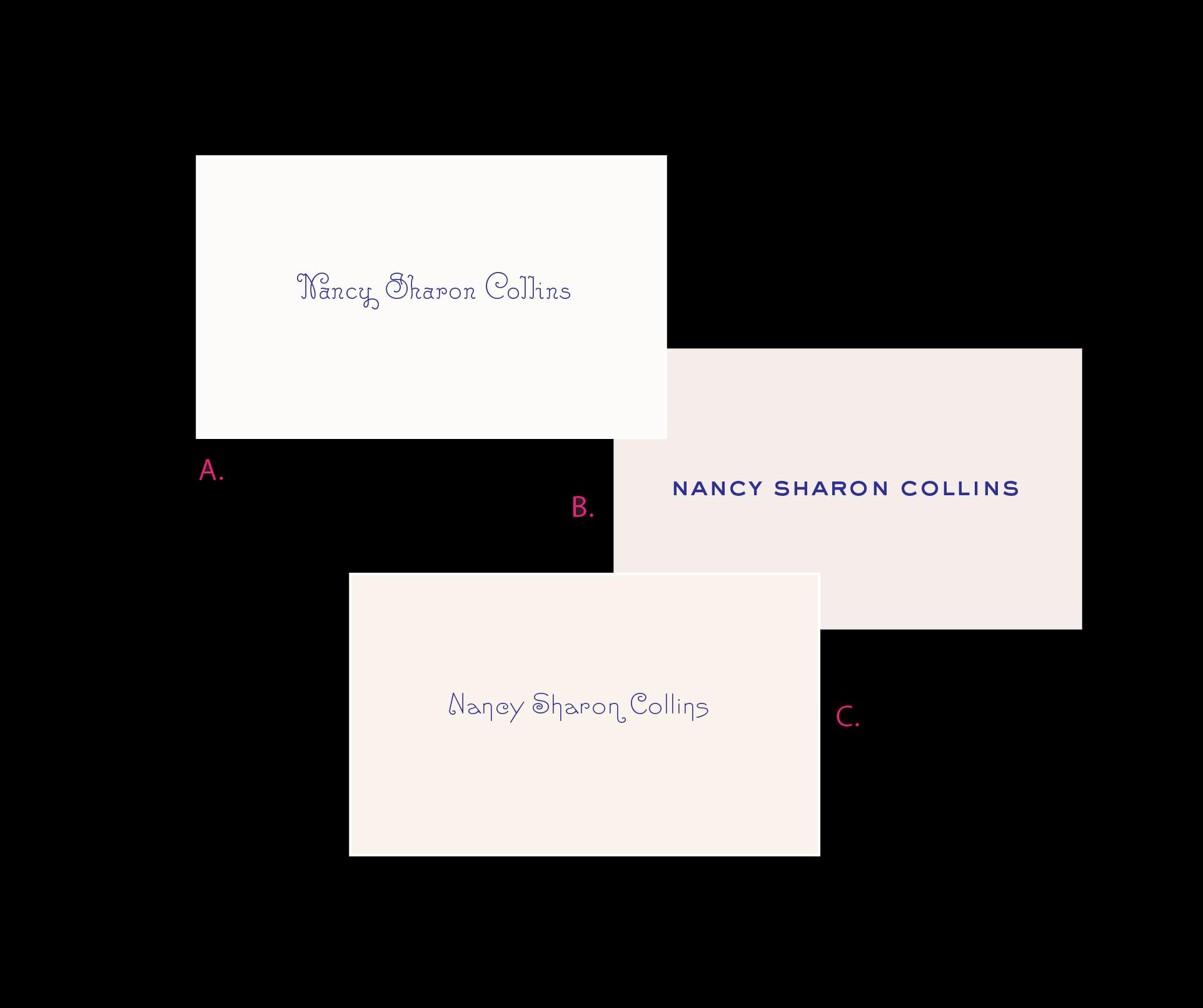 custom engraved calling cards