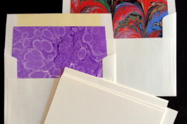 Marble Paper Lined Envelope Note Sets