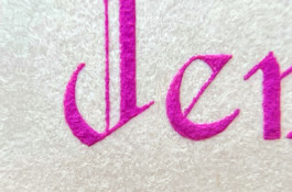 Close-up of Hand Engraved Lettering